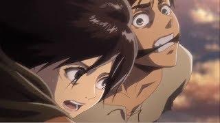 Commander Erwin saves Eren epic scene - Attack on Titan season 2 episode 11 HD