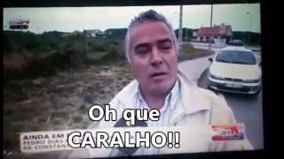 """Entrevista na TVI  em que o entrevistado diz """"oh que caralho!!!"""""""