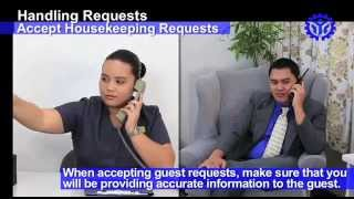 Accept Housekeeping Requests