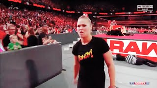 Ronda rousey attacks Alexa with Brock lesnar theme song