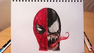 🎨 SPEED DRAWING: Spiderman vs Venom 🕷 (Tom Holland / Topher Grace) in Spider-Man 3/Homecoming