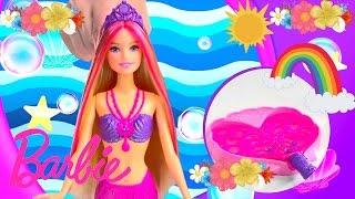 Barbie Mermaid Doll Magical Bubble دمية باربي