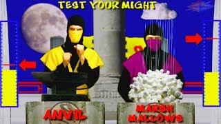 REAL MORTAL KOMBAT - Test Your Might Parody (Scorpion vs Rain)