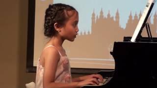 "Antea Putri Turk plays ""Brahms Lullaby"", ""Ode to Joy"" & ""Peter Pan's Flight"""