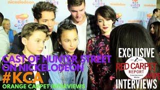 Cast of Hunter Street interviewed at 2017 Kid's Choice Awards Red Carpet #KCA