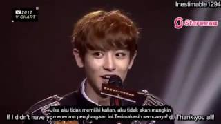 [INDO SUB] 170408 EXO Chanyeol 찬열 - Best Collaboration Of The Year @ 2017 V Chart Awards