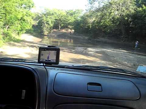 River Crossing using Nicaragua Garmin GPS Map Central America Costa Rica iPhone GPS
