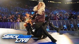 Charlotte Flair attacks Becky Lynch's injured knee: SmackDown LIVE, Jan. 29, 2019