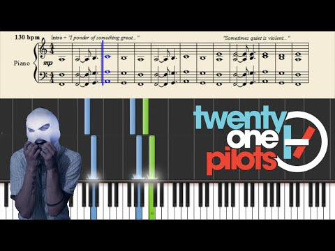 Twenty One Pilots Car Radio Piano Tutorial Chords Chordify