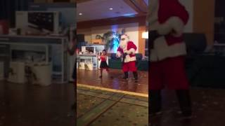 Best santa and daughter dance