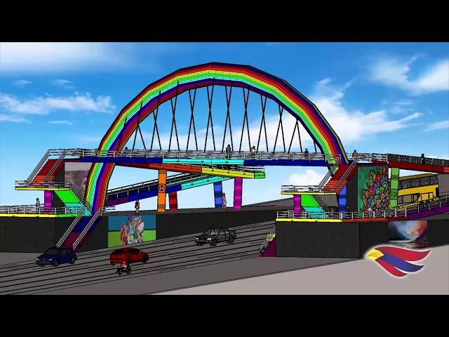 Proyecto de intervención artística Puente del Arcoiris