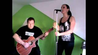 'True Colours' Cyndi Lauper - Live acoustic cover by Jaded Angel (Sarah Haseler on vocals)