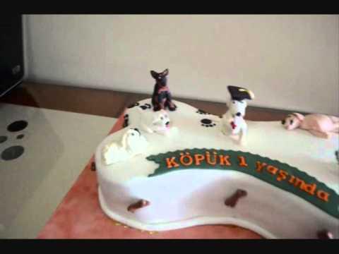 köpek temalı doğum günü pastası