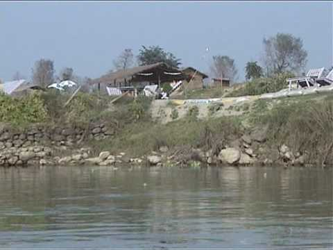 Cano-trip on the Rapti-river Chitwan Nepal.