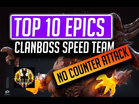RAID: Shadow Legends   Top 10 Epics for Speed team for Clan boss, no Counter Attack!