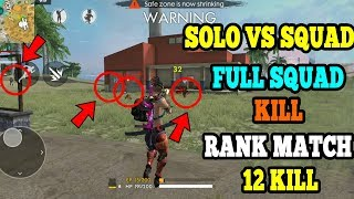 HOW TO KILL SQUAD IN RANK MATCH    FREE FIRE TIPS AND TRICKS    RU GAMING