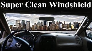 How to Super Clean the INSIDE of Your Windshield (No Streaks) width=
