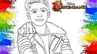 Colorindo desenho Filme Descendentes 2 Disney Channel Carlos The Descendants Cartoon para crianças