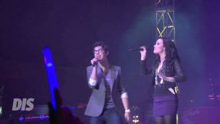 "Joe Jonas & Demi Lovato perform ""This is Me"" live at Epcot in Walt Disney World"