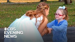 5-year-old gwith autism mistakes bride for Cinderella width=