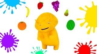 Aprender las frutas, colores, formas y números con Dino el Dinosaurio | Dibujos animados educativos