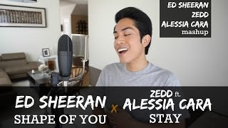Ed Sheeran x Zedd x Alessia Cara Mashup - Shape of You & Stay (Angelo Vivo Cover)