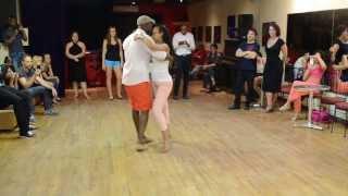 Démo de cours de Kizomba 04/08/2013 - Jeffrey & Fanja - DeLima, Montréal-Canada