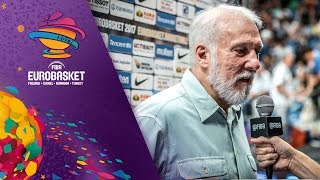 Coach Gregg Popovich shows his appreciation for FIBA EuroBasket