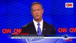 A sólo horas del segundo debate entre precandidatos demócratas