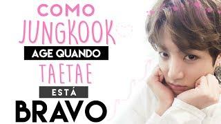 Como Jungkook age quando TaeTae está bravo [VKOOK] width=