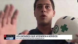 Hablamos con un voluntario de los Cascos Blancos Cruz Verde o primeros auxilios UCV