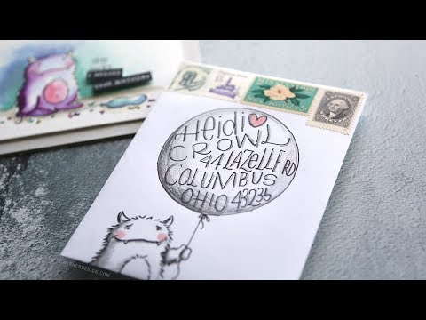 Mail Art - Birthday Balloon & Monster Envelope