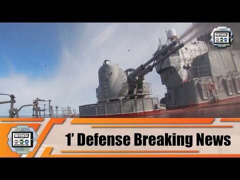 Russian Battlecruiser Pyotr Velikiy Firing Missiles on coastal targets in Barents Sea