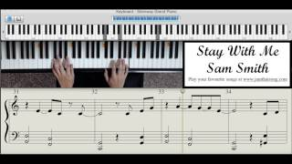 Piano Tutorial - Stay With Me by Sam Smith