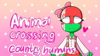animal crossing meme | country humans