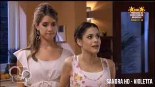 Violetta 1 - Angie estucha a Violetta cantar por primera vez (Capítulo 3)