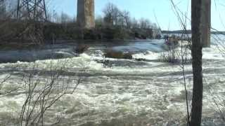 Seguin River 2013 Spring Run Off in Parry Sound