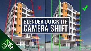 Blender Tip - Camera Shift for Architecture Renders