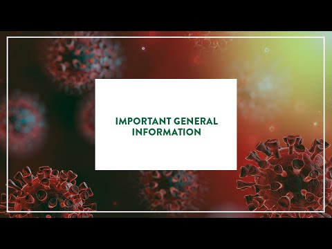 Important General Information regarding COVID-19