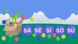 Silabas Sa Se Si So Su. Silabas simples. Video educativo infantil