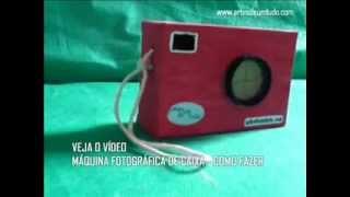 Máquinas Fotográficas de Caixas #01 Modelos de câmera de papelão reciclada