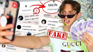 I FAKED being  RICH on TIKTOK for 24 HOURS and THIS is what happened...