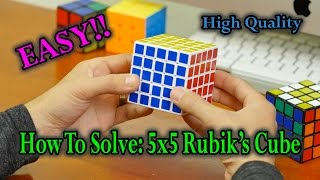 How To Solve A 5x5 Rubik's Cube: The Best & Easiest Way (High Quality) width=