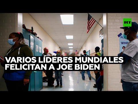 Varios políticos y líderes mundiales felicitan a Joe Biden y Kamala Harris