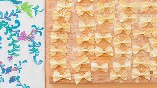 Como fazer macarrão farfalle (gravatinha)