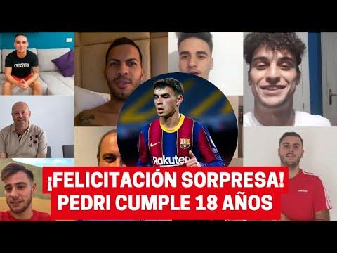 Las felicitaciones sorpresa en el 18 cumpleaños de Pedri