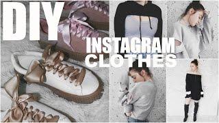 DIY INSTAGRAM CLOTHES   5 EASY Trendy Fashion DIY's