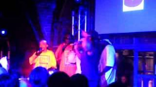 "Melle Mel & The Furious 5 with Kurtis Blow ""Superrappin"" live at Glasgow The Arches, 27-Sep-2009"