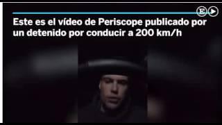Conductor Temerario a 200 KM/H 2016