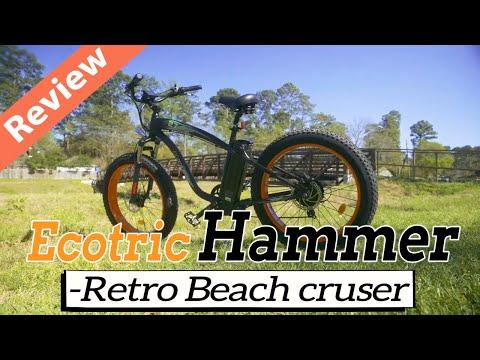 Ecotric Hammer Review - Retro Beach Cruiser - ,479.99 Ebike